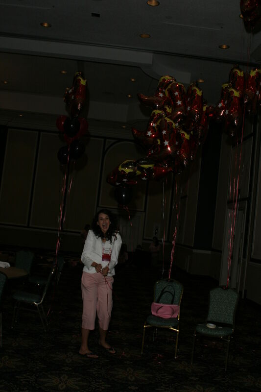 Christy Satterfield With Balloons at Convention Photograph 1, July 2006 (Image)