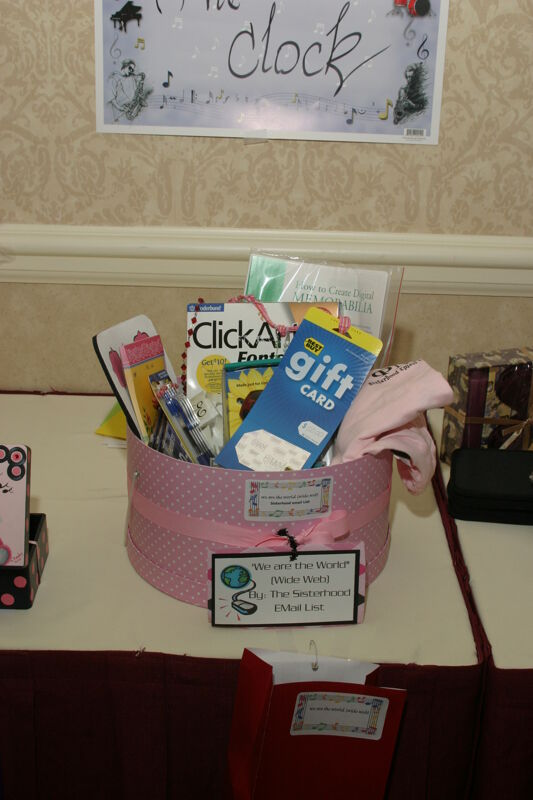 We Are the World Gift Basket at Convention Photograph 2, July 2006 (Image)
