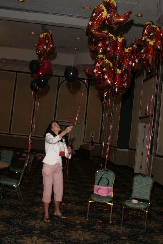 Christy Satterfield With Balloons at Convention Photograph 2, July 2006 (Image)