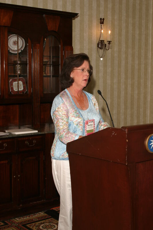 Shellye McCarty Speaking at Convention Officer Luncheon Photograph 1, July 2006 (Image)