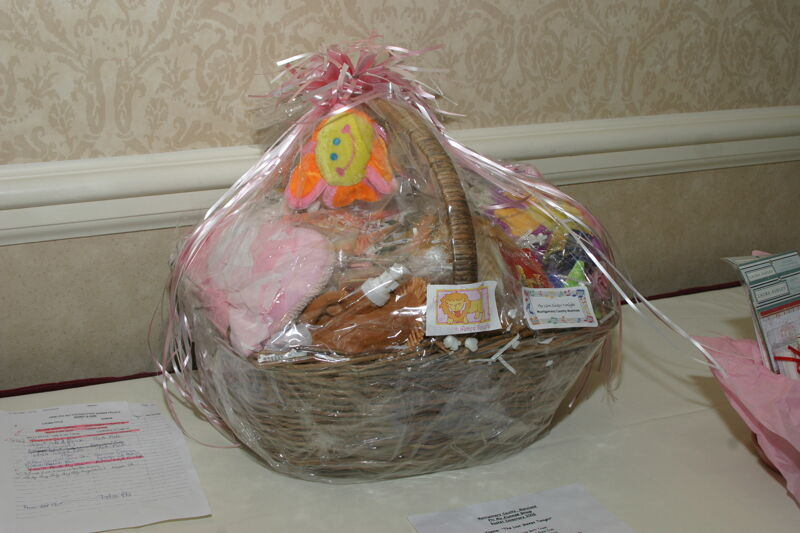The Lion Sleeps Tonight Gift Basket at Convention Photograph, July 2006 (Image)