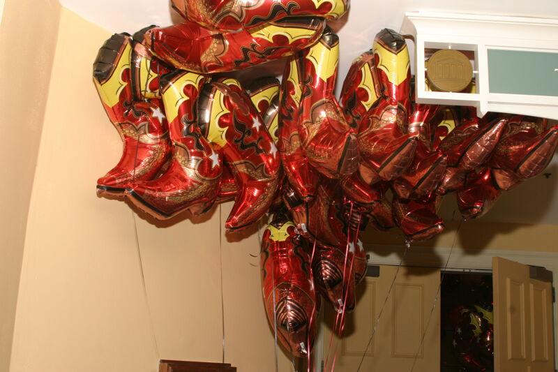 Cowboy Boot Balloons at Convention Photograph, July 2006 (Image)