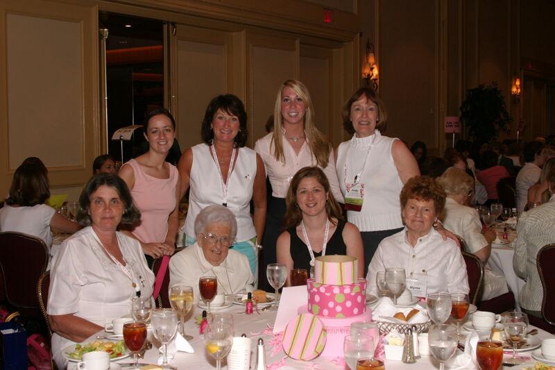 Table of Eight at Convention Sisterhood Luncheon Photograph 13, July 8-11, 2004 (Image)