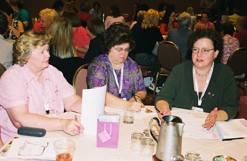 Three Phi Mus in Convention Discussion Group Photograph 10, July 4-8, 2002 (Image)