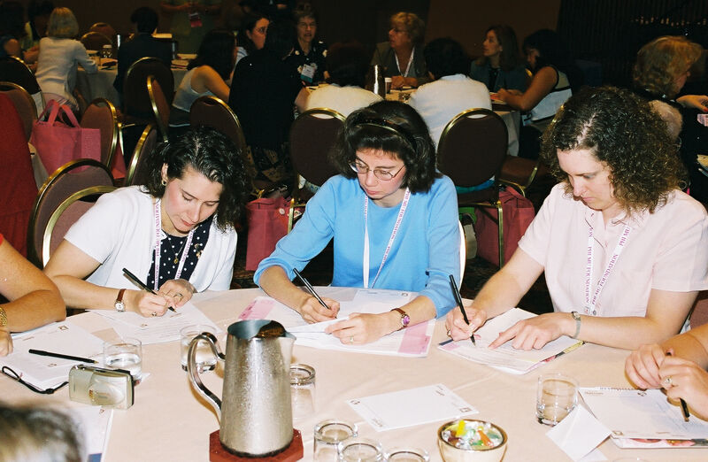 Three Phi Mus in Convention Discussion Group Photograph 11, July 4-8, 2002 (Image)