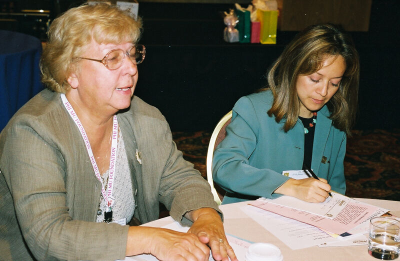 Two Phi Mus in Convention Discussion Group Photograph 6, July 4-8, 2002 (Image)