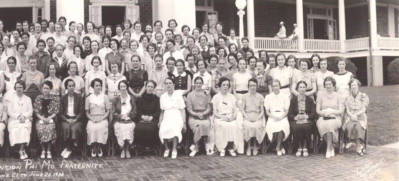 Phi Mu National Convention Group Photograph, June 21-26, 1936 (Image)