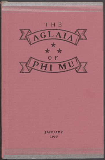 The Aglaia of Phi Mu, Vol. XXIX, No. 2, January 1935 Image