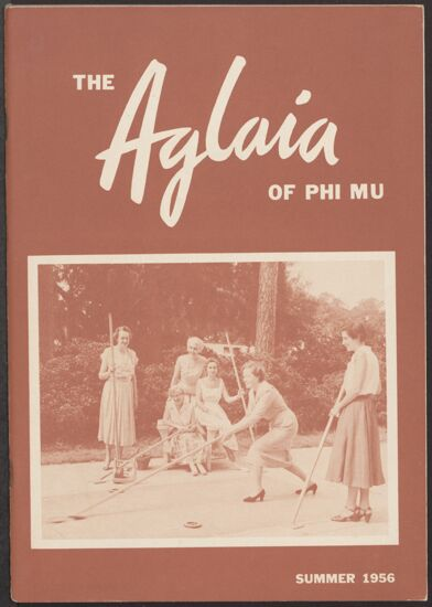 The Aglaia of Phi Mu, Vol. 50, No. 4, Summer 1956 Image