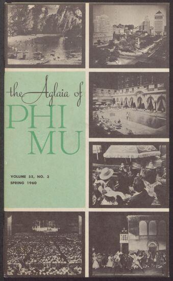The Aglaia of Phi Mu, Vol. 55, No. 3, Spring 1960 Image