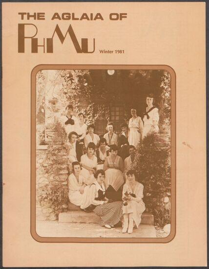 The Aglaia of Phi Mu, Vol. 76, No. 1, Winter 1981 Image